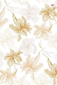 This product is also part of a Bundle, see here Introducing the Elegant Flower Patterns a set of Seamless Vector Patterns and Vector Floral Compositions created Flower Pattern Design, Surface Pattern Design, Flower Patterns, Flower Backgrounds, Wallpaper Backgrounds, Digital Backgrounds, Wallpapers, Motif Floral, Floral Prints