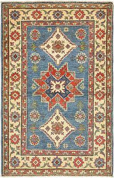 Blue Kazak Area Rug
