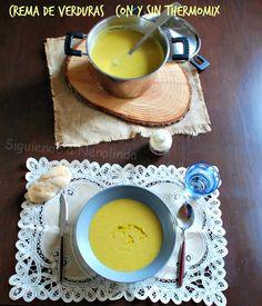 Crema de verduras Thermomix