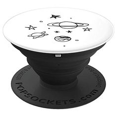 Outer Space Planets Stars - White - PopSockets Grip and Stand for Phones and Tablets Girl Phone Cases, Cute Phone Cases, Iphone Phone Cases, Popsockets Phones, All Mobile Phones, Popsocket Design, Cute Popsockets, Cell Phone Grip, Diy Pop Socket