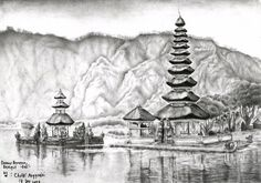 Danau Beratan, Bedugul Bali by christi0anggraini on deviantART