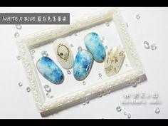 UniKorn獨角獸專業美甲教學 簡易沙龍石紋 Easy White Stone Marble - YouTube