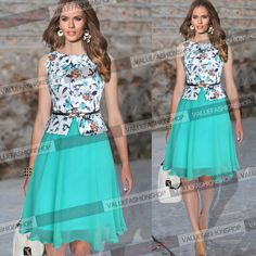 Womens Summer Belted Chiffon Floral Wear to Work Party Prom Skater Dress 745 Kids Dress Clothes, Dresses Kids Girl, Clothes For Women, Fashion Drawing Dresses, African Fashion Dresses, Fashion Outfits, Casual Dresses, Short Dresses, Corporate Outfits