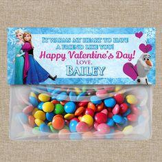 Disney Frozen Favor Bag Toppers - Valentines Day - School Valentines - Class Valentines - Valentines Treats