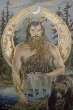 Veles (Volos): Lord of the forest Russian Mythology, Mythology Books, Eslava, Legend Drawing, Pagan Symbols, Dangerous Animals, Forest Creatures, European History, Gods And Goddesses