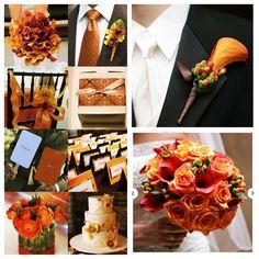 Orange and Brown weddin- lovin the calilie.. or however u spell it