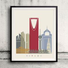 Riyadh skyline poster  Fine Art Print Glicee Poster by Paulrommer
