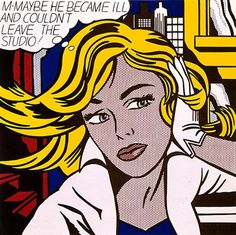 Roy Lichtenstein - M-Maybe (1965) magna on canvas, Collection Museum Ludwig, Cologne, Germany