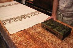 Textile printing at the Antica Stamperia Artigiana Marchi, Santarcangelo di Romagna