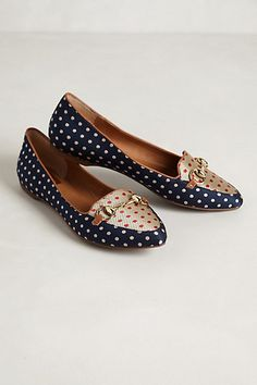 Polka dot loafers | Anthropologie