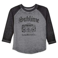Sublime Infant Toddler Boys' Long Sleeve Band Tee - Gray