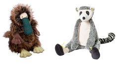 Henry l'ornithorynque et Maki le maki - Collection Les Roty Moulin Bazar - Moulin Roty