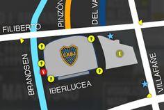 Escudos el club futbol pinterest for Puerta 2 cancha de boca