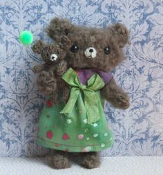 Knitted Bear by ViolaSueKnits on Etsy, $45.95