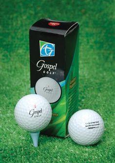 Gospel Golf Balls: Philippians 4:13, Set of 3