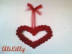 Valentines wreath made from tissue paper and a cereal box.  Gonna have to try this one