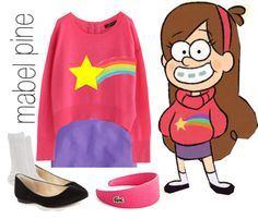 """mabel, gravity falls"" by simmaaay ❤ liked on Polyvore                                                                                                                                                                                 Mais"