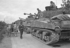Sherman Tanks of Pretoria Regiment in Italy, World War II