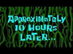 Spongebob Squarepants: One Eternity Later Spongebob Time Cards, Spongebob Episodes, Spongebob Memes, Spongebob Squarepants, First Youtube Video Ideas, Youtube Editing, Tired Of Waiting, Youtube Channel Art, Bad Puns