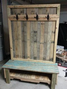 Awesome 34 Trendy Wood Pallet Furniture Design Ideas To Increase Your Home Desig.Awesome 34 Trendy Wood Pallet Furniture Design Ideas To Increase Your Home Design. Diy Furniture, Woodworking, Recycled Wood, Pallet Furniture Designs, Rustic Furniture Design, Wood Pallets, Recycled Wood Projects, Wood Storage Bench, Furniture Design