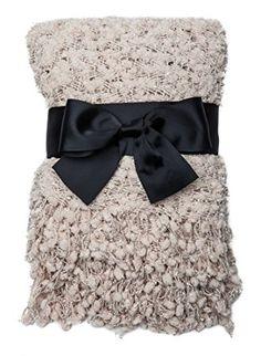 Amazon.com: Chanasya Super Soft Beautiful Elegant Decorative Woven Popcorn Texture Couch Bed Beige - Ivory Beige Throw Blanket With Ball Fringe: Bedding & Bath