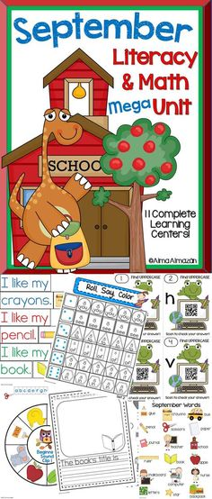 Mega Literacy and Math Bundle! Come see what's included...Your kiddos will LOVE it! Soon to come in Spanish!
