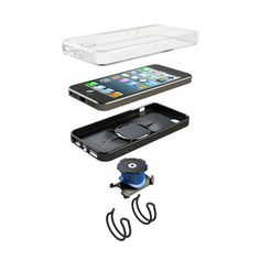 Father's day gift: Annex Quad Lock Bike Mount Kit for iPhone 5 - Retail Packaging - Black Iphone 7 Cases, Iphone 5s, Tech Accessories, Cell Phone Accessories, Support Iphone, Bike Kit, Bike Mount, Quad Bike, Apple Products