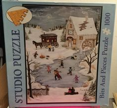 Bits and Pieces Studio Puzzle Skating on Christmas Eve 1000 Piece Jigsaw SEALED in Toys & Hobbies, Puzzles, Contemporary Puzzles | eBay