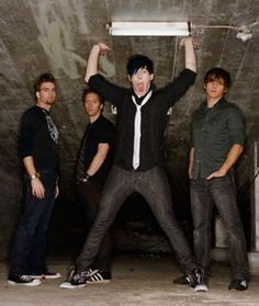Marianas Trench...I love how Josh is the only crazy looking one!!!