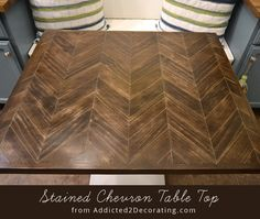 How to make a chevron table top...but I'm thinking this could possibly be used as a headboard
