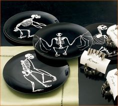 spooky candle holders | ... candles , bone candle holders , glitter skull , and skull votives