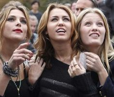 Ashley Greene, Miley Cyrus and Ashley Hinshaw