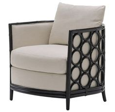 Laura Kirar Barrel Lounge Chair From Mc Guire Contemporary, Upholstery Fabric, Seating by New York Design Center