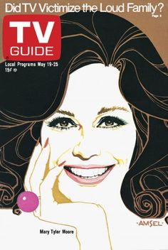 TV Guide May 19, 1973 - Mary Tyler Moore of The Mary Tyler Moore Show.  Illustration by Richard Amsel.