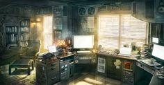 Perhaps a bedroom that Hank would like in Cheatc0de my #cyberpunk #scifi novel. http://mikeycampling.com