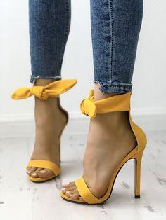 4aa1b8e83122 Peep Toe Thick Strap Ankle Tie Stiletto Sandals