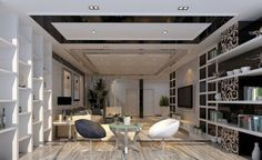 Because the living room is one of the most important room in your home, if you want to create a nice living room design, lighting ideas and living room ceiling design is something that you need to concern. Industrial Chic, Minimalist Furniture, Ceiling Design, Ceiling Ideas, Layout, Beauty Room, Modern Decor, Modern Room, Modern Design