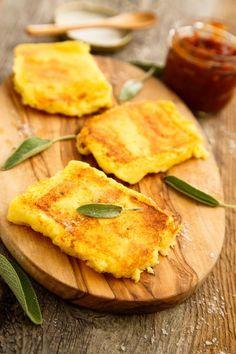 Gegrillte Polentaschnitten #polenta #rezept #vegetarisch