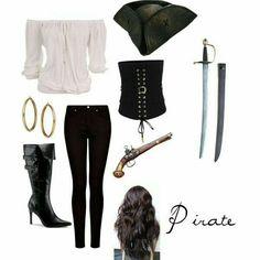 DIY Halloween Costumes: Pirate Night on the Disney Cruise Pirate Halloween Costumes, Disney Halloween, Cool Costumes, Halloween Diy, Diy Pirate Costume For Women, Costume Ideas, Female Pirate Costume, Teen Costumes, Woman Costumes