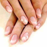 Terumi Susudaさんのソフトジェル,リボン,ピンクネイル♪[105787] | ネイルブック