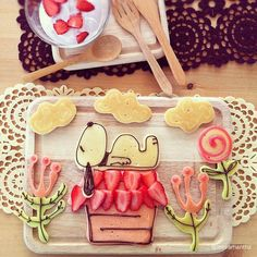 Comidas divertidas: Snoopy.
