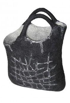"Bag in technique of ""carving"" - Felt without secrets Textiles, Felt Purse, Felting Tutorials, Basket Bag, Fabric Manipulation, Wet Felting, Felt Art, Shibori, Bag Making"
