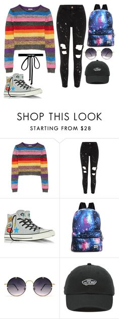 """Untitled #528"" by summer-luvin ❤ liked on Polyvore featuring Miu Miu, River Island, Converse, Spitfire, Vans and Joomi Lim"