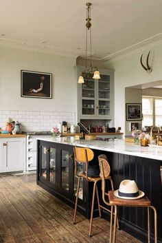 Modern day living in a historic setting with just enough eclectic touches.