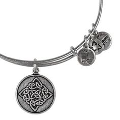 Alex and Ani Celtic Knot Expandable Wire Bangle Rafaelian Silver