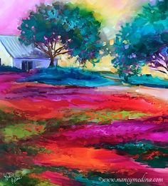 Art - Nancy Medina Abstract Landscape Painting, Landscape Paintings, Abstract Paintings, Cool Landscapes, Beautiful Landscapes, Nursery Paintings, Eye Art, Art World, Wallpaper Backgrounds