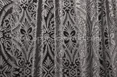 Black sheer velvet with patterns (burnout) (pictures were taken over a white background)