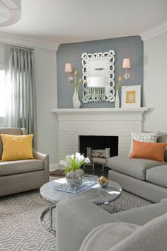 Modern Sophistication Living Room transitional-living-room - too much grey?