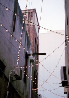 all buildings need lights strung btwn them
