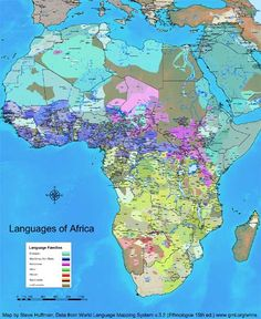 A map displaying the languages of Africa - Steve Huffman